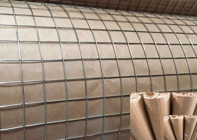 "1/2"" - 6"" Galvanized Welded Wire Mesh Roll For Agriculture Bright Cold Color"