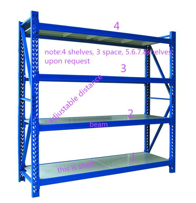 Quick Installation Industrial Steel Storage Shelves 2 - 5 Layers For Light Duty Load