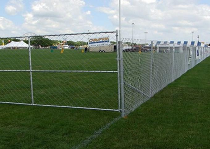 Free Standing Temporary Construction Fence Removable For Playground / Residential