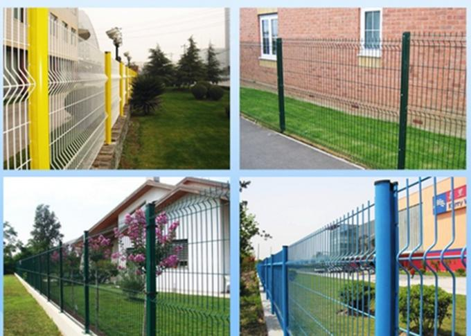 Powder Sprayed Curved Metal Garden Mesh Fencing Multicolor Available