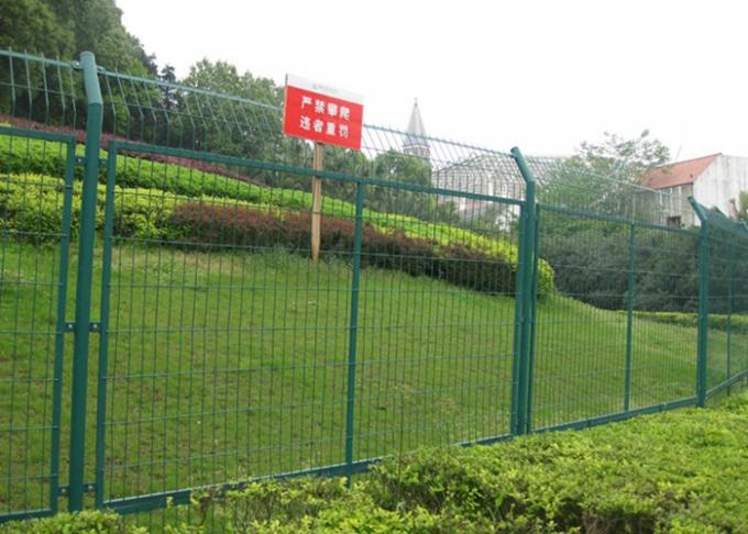 Durable Powder Coated Steel Wire Fencing Panels With Frame Finishing