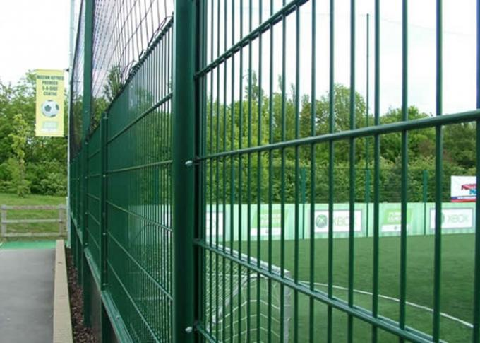 Galvanized / PVC Coated Steel Wire Fencing , Double Wire Mesh Fence For Garden