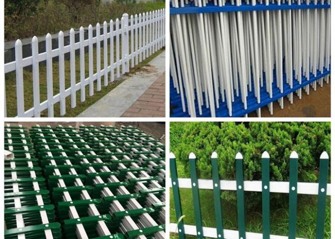 Powder Coated Metal Garden Fence Panels Decorative With 0.3-6m Length