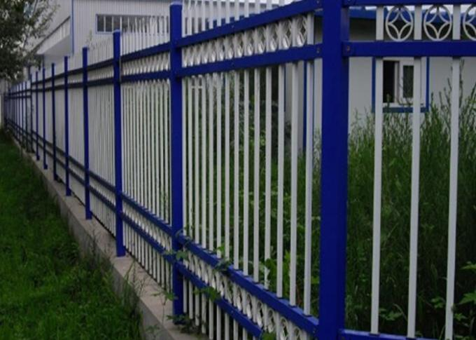 Powder Coated Wall Boundary Line Fencing Double Beam With 80*80mm Square Pipe
