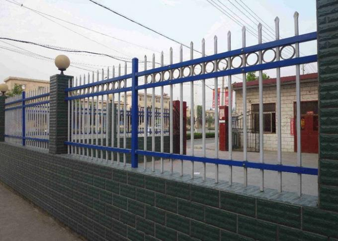 Metal Zinc Steel Fence For Privacy Countyard Protection , School Fence Panels