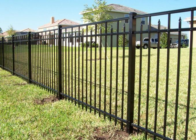 Various Size Decorative Ornamental Steel Fence For Residential , Weather Proof