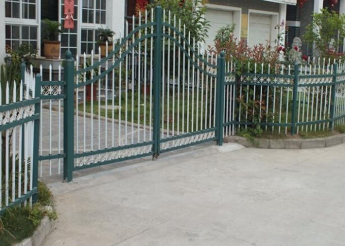 Arch Top Decorative Residential Electric Gates , Sliding Metal Gates For House