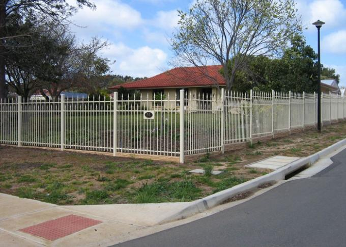 Security Automatic Driveway Gates , Residential Sliding Gates Tubular Fencing