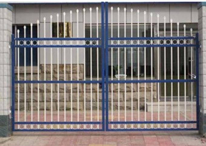 Residential Automatic Sliding Gates For Driveways Hot Dipped Galvanized Treatment
