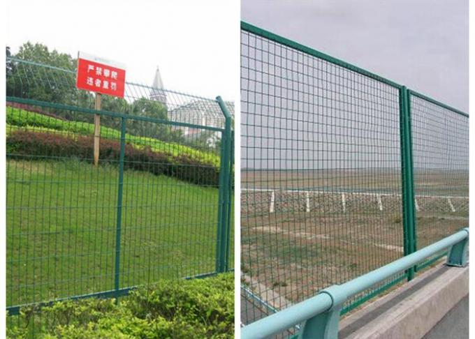 Customized Size Green Metal Mesh Fencing Security Decorative For Power Plants