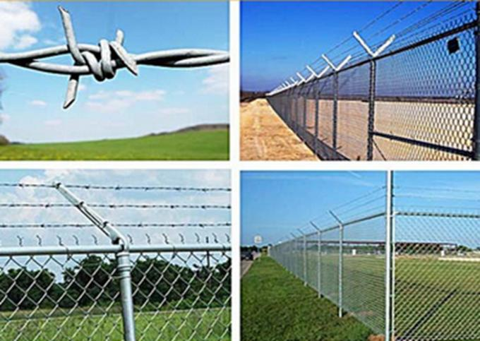 Tradition Twisted Barbed Wire Mesh Fence Powder Coated With 1.5-3cm Barb Length
