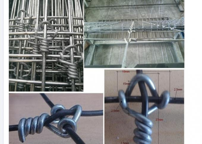 Galvanized Field Fixed Knot Fence , High Tensile Horse Fence For Grass Field