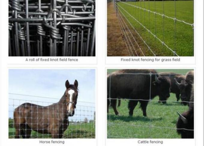 Security Sheep / Cattle Wire Fence Rust Resistance Customized Size