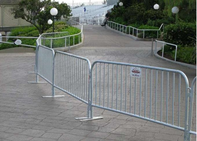 Powder Coated Temporary Construction Fence /  Portable Steel Security Fencing
