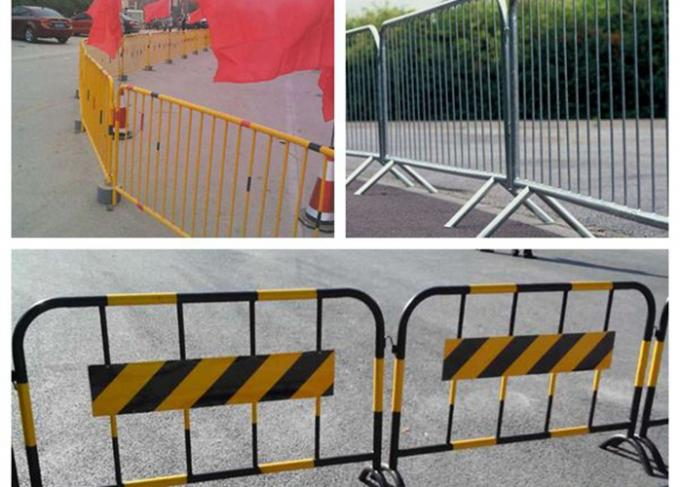 Safety Barrier Temporary Backyard Fence , Temporary Security Fence Panels For Crowd Control