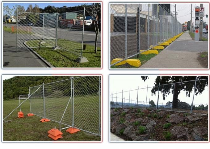 Welded Construction Temporary Chain Link Fence Panels Low Carbon Steel