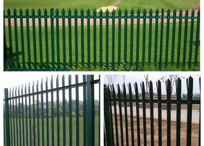 Anti Climb Security Palisade Fencing Gates For Lawns / Villas , Metal Picket Fence Panels