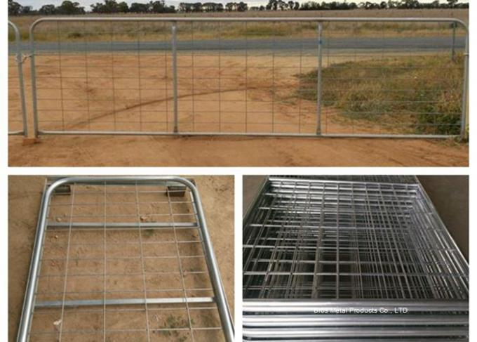 Galvanized Pipe Frame Farm Mesh Fencing Easy Install With I / N Type