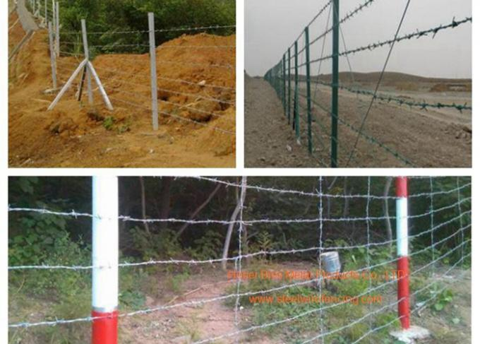 Electro Galvanized Fence Barbed Wire For Grass Boundary / Highway Protecting