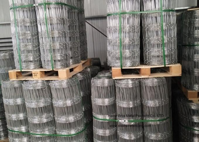 Hinge Joint Knot Galvanized Cattle Fence 0.8m - 2m Height For Woven Grassland