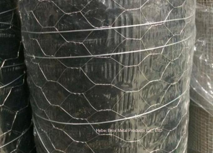 Hot Dipped Galvanized Hexagonal Woven Wire Netting For Poultry Cage