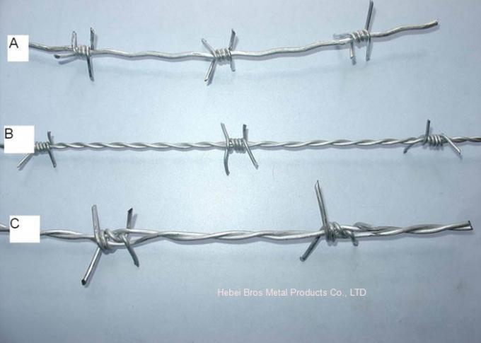 Double Twisted Steel Barbed Wire Mesh For Protect Fencing , 14 Gauge ...