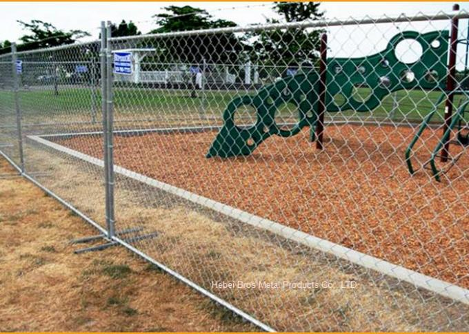 Outdoor Temporary Construction Fence Chain Link Fencing For Construction Protection