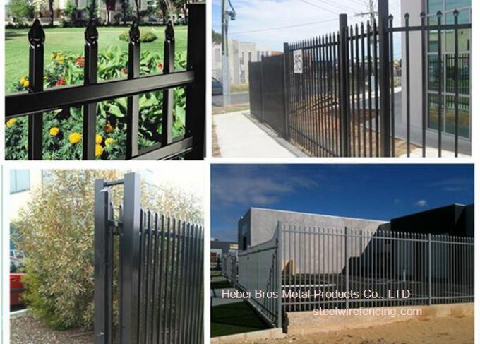 Galvanized Stee Pipe Villa Zinc Steel Fence Outdoor Security Metal Garden Fencing