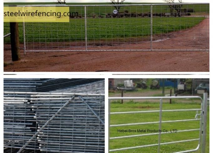 Fully Welded Hot Dipped Gal. Farm Steel Gates , Liivestock Fence Panels