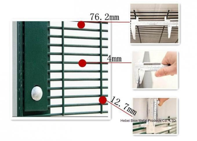 Welding Steel Wire Fencing Anti Cut and Climb 358 High Security Fence For Boundary Wall
