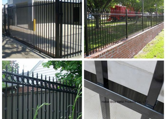 Commercial Zinc Steel Fence Rails Industrial Steel Pipe