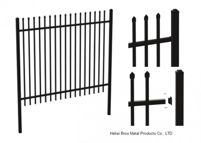 Safely Metal Modern Zinc Steel Fence Tubular Picket Fence For Downtown