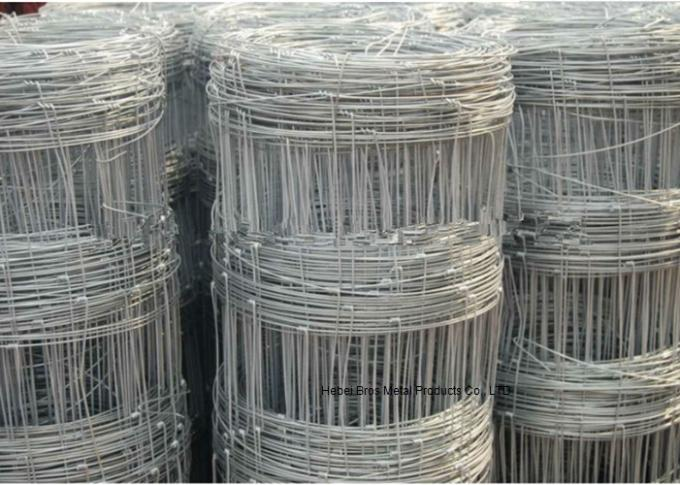 Hot Dipped Galvanized Field Fence , High Tensile Woven Wire Fence Rolls
