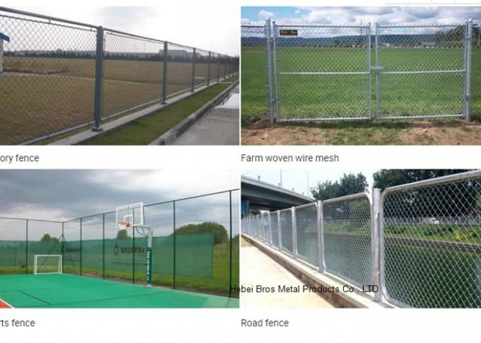 Hot Dipped Galvanized Steel Wire Fencing , Residential Metal Chain Link Fence